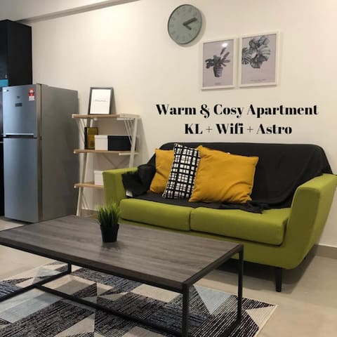 [New!!!] Warm & Cosy Apartment | KL + WiFi + Astro