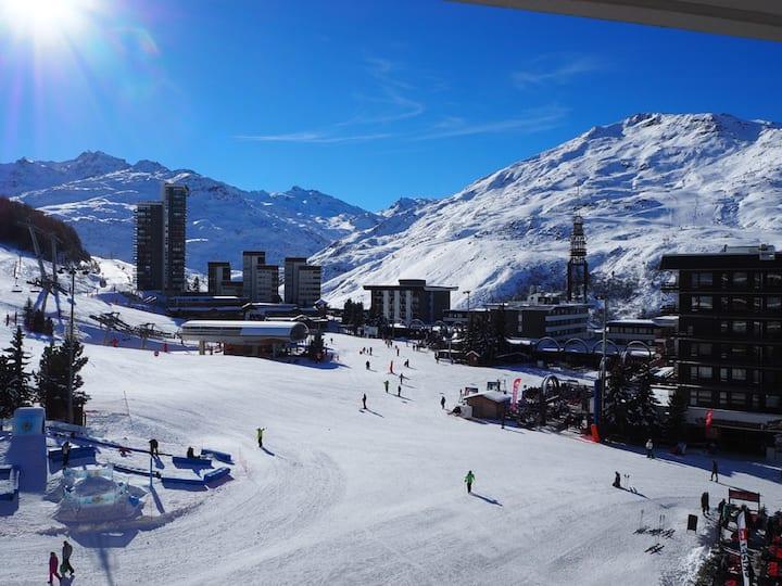 Studio Les Menuires/Croisette Ski au pied