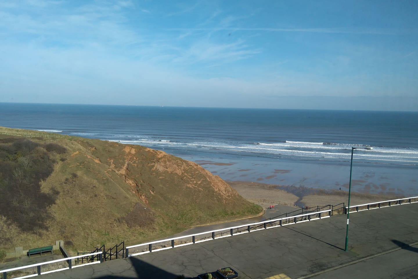The actual view from the window - enjoy the beach!