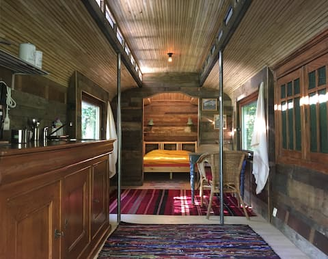 Beautiful bohemian caravan