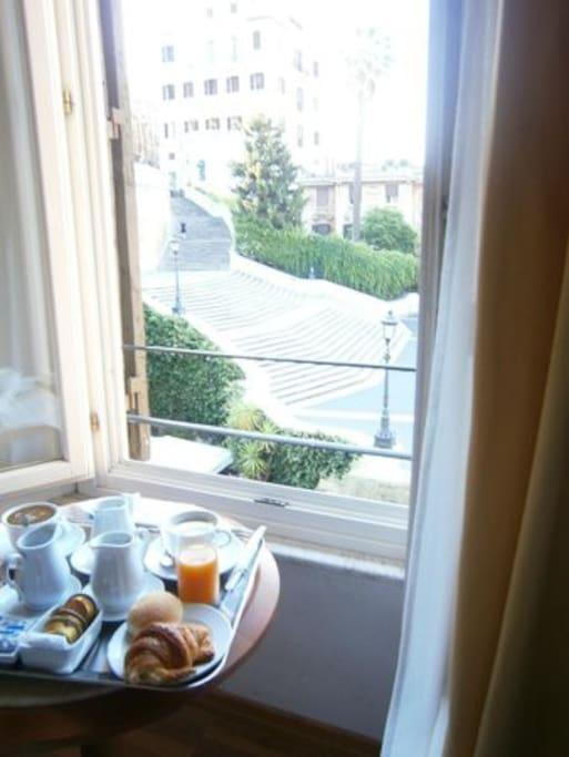 la colazione in camera