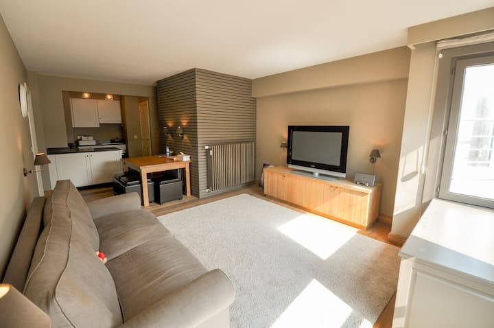 Studio in the center of Knokke with ocean view