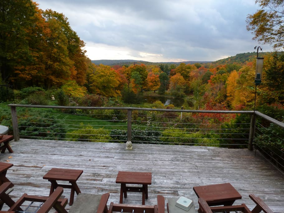 Enjoy fabulous New England fall foliage from our deck