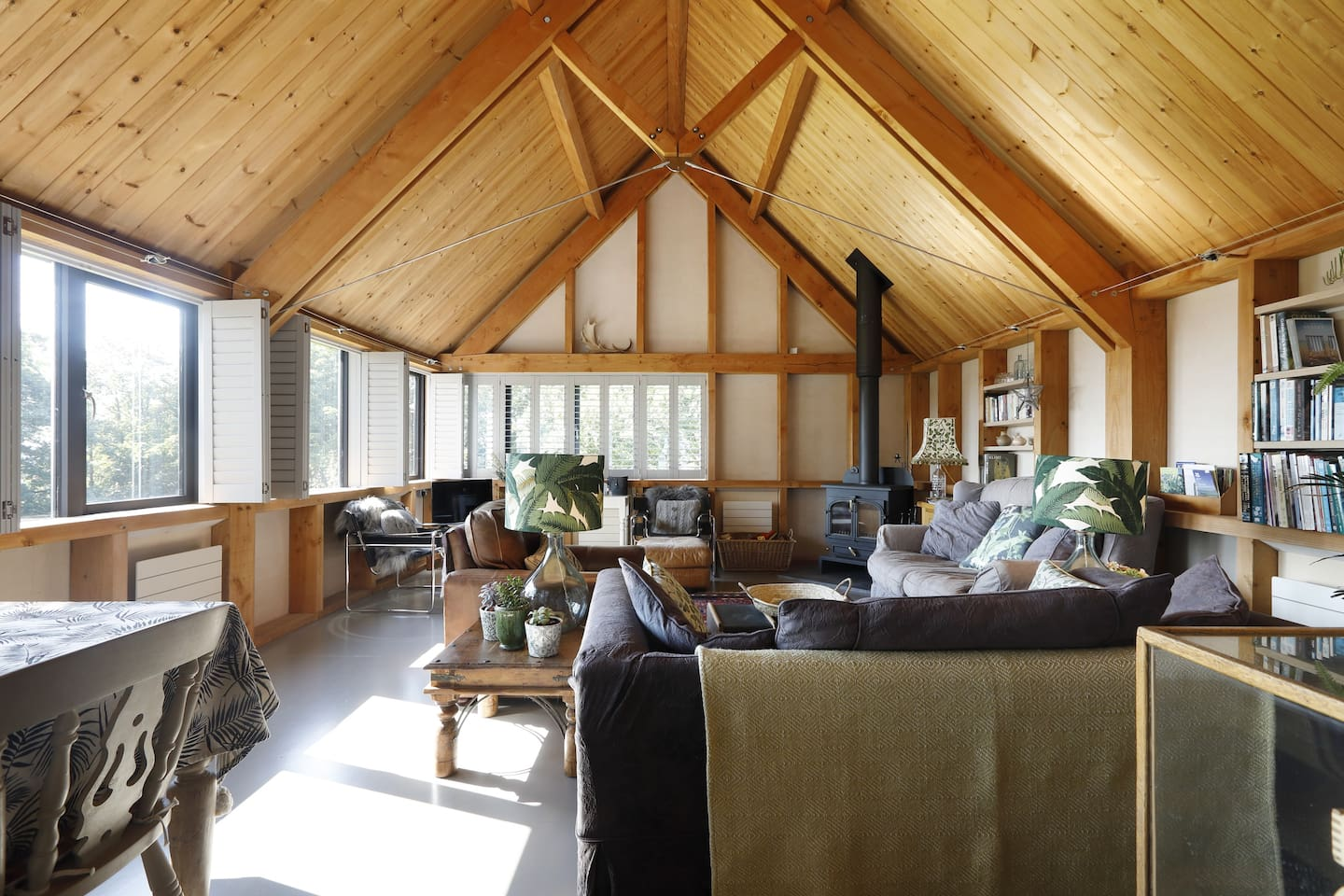 Light and airy barn.