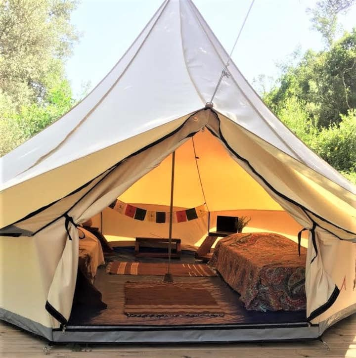 Datça Base Camp Glamping 2 Single Bed