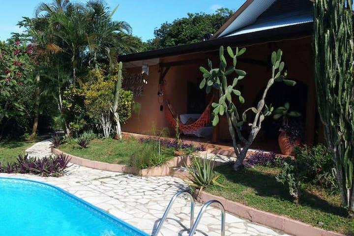 Nid de verdure avec piscine