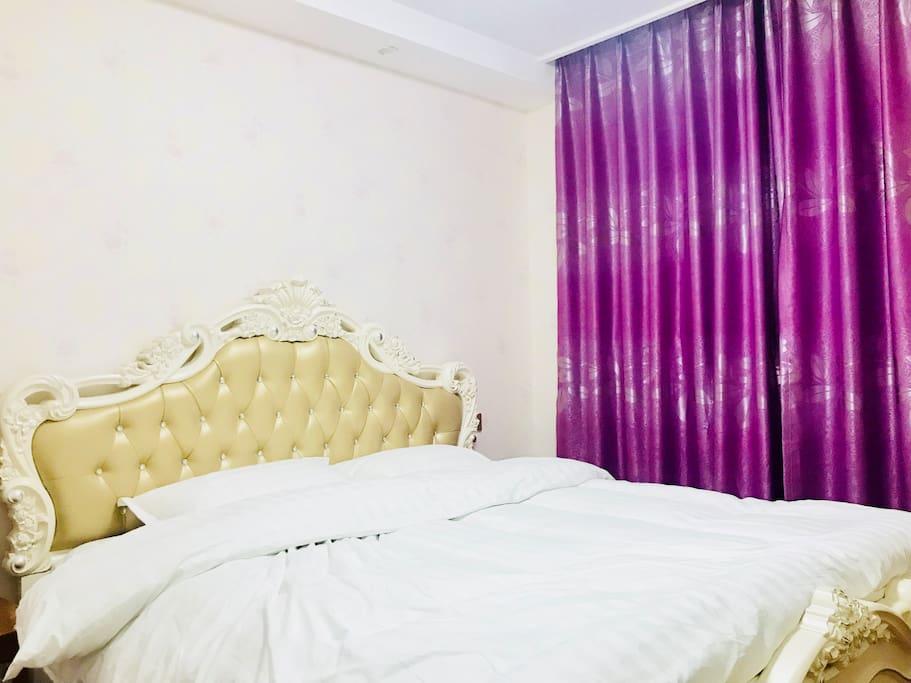 卧室,欧式2米大床,柔软舒适,干净整洁
