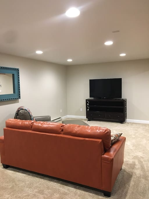 Spacious living area with Smart TV