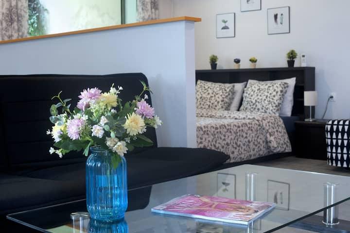 Cozy Fully Renovated Studio 4ppl in Holargos,...