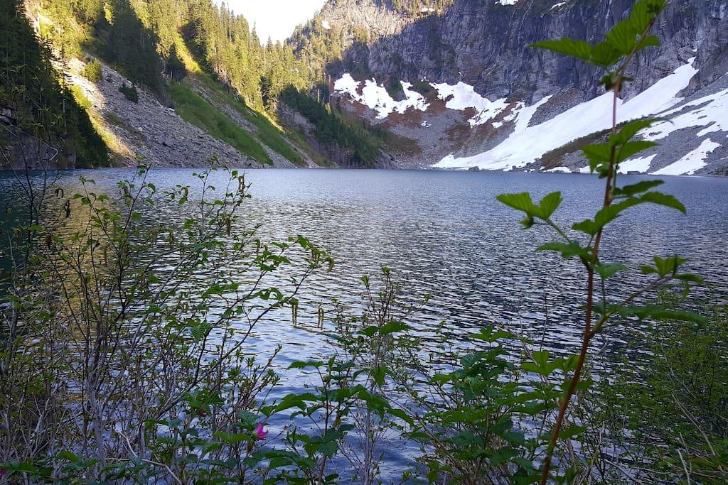 Lake Serene, May 13th.  Trailhead 15 minutes away.