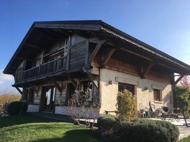 Appart à la campagne, proche Genève et Golf Esery