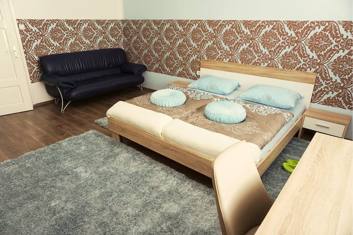 BE MY GUEST totaly new room near City center Blue