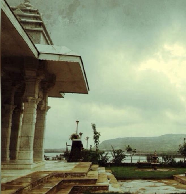 Mandir and the view