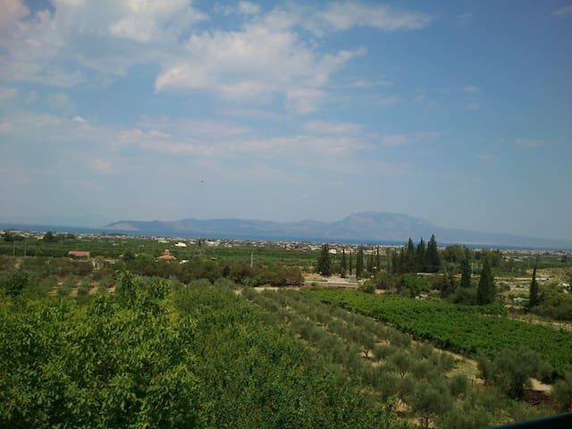 Magnificent view of the Corinthian gulf - Tarsina - Apartament