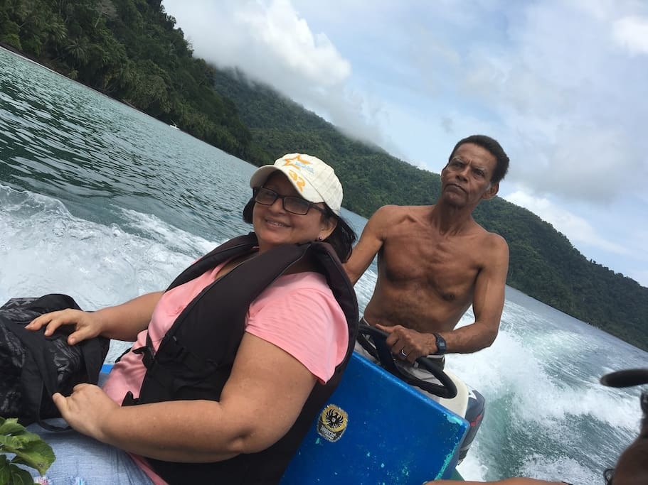 Travelers must be tranported on boat from the pier in Golfito up to the property by our experienced driver.