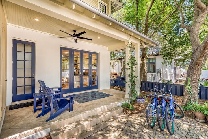 Back Porch - Featuring a Porch Swing & Adirondack Chairs