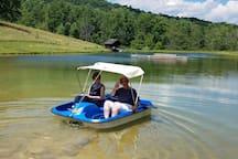 paddleboat at the lake