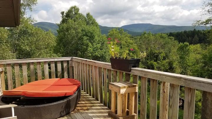 Cozy quiet home mtn views & near town Tannersville