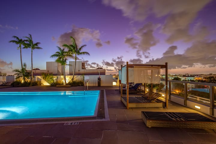Luxurious/modern 1 bed apartment w/rooftop pool