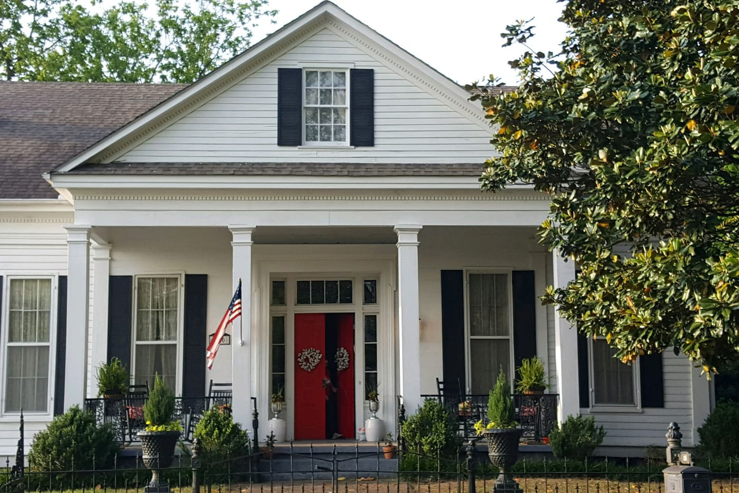 Welcome to Hilltop, built in 1856 in the Greek Revival style. It is furnished with a mix of period antiques and eclectic finds that we love.