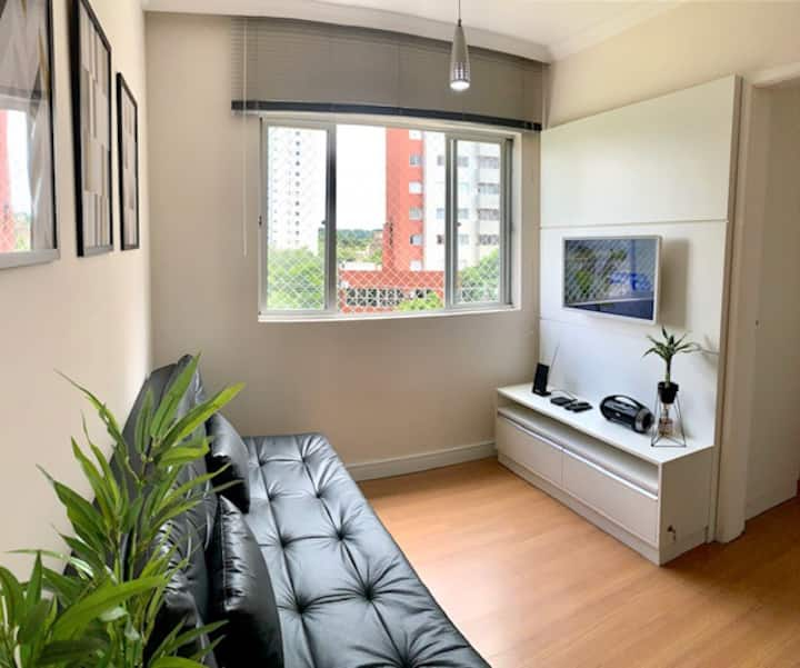 Lindo apartamento 1 quarto decorado Bigorrilho