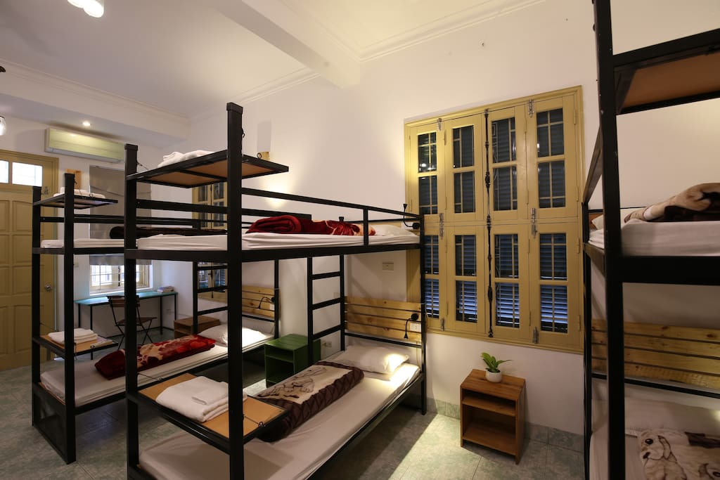 45m2 large bedroom with 8 bunk beds, Private kitchen and balcony