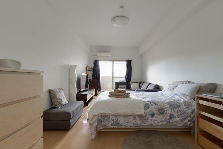 Namba St. 5min, Large Luxury Apt. - Ōsaka-shi - Apartment