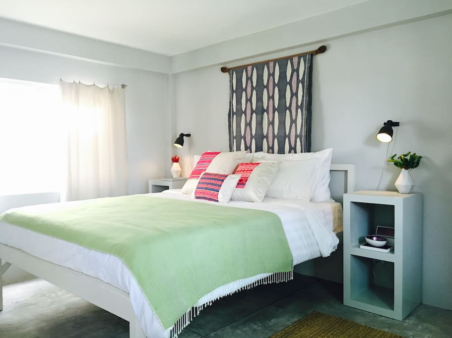 The Kandal 2nd Bedroom on the second floor. Overlooking the the rooftop terrace.