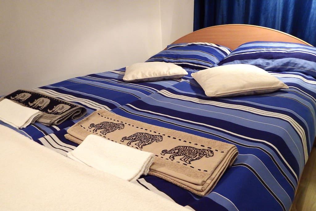 Duże, wygodne łóżko