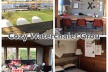 Cosy Waterchalet Grou Friesland ❤️