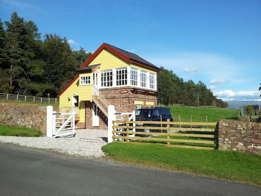 The Signal Box from the road