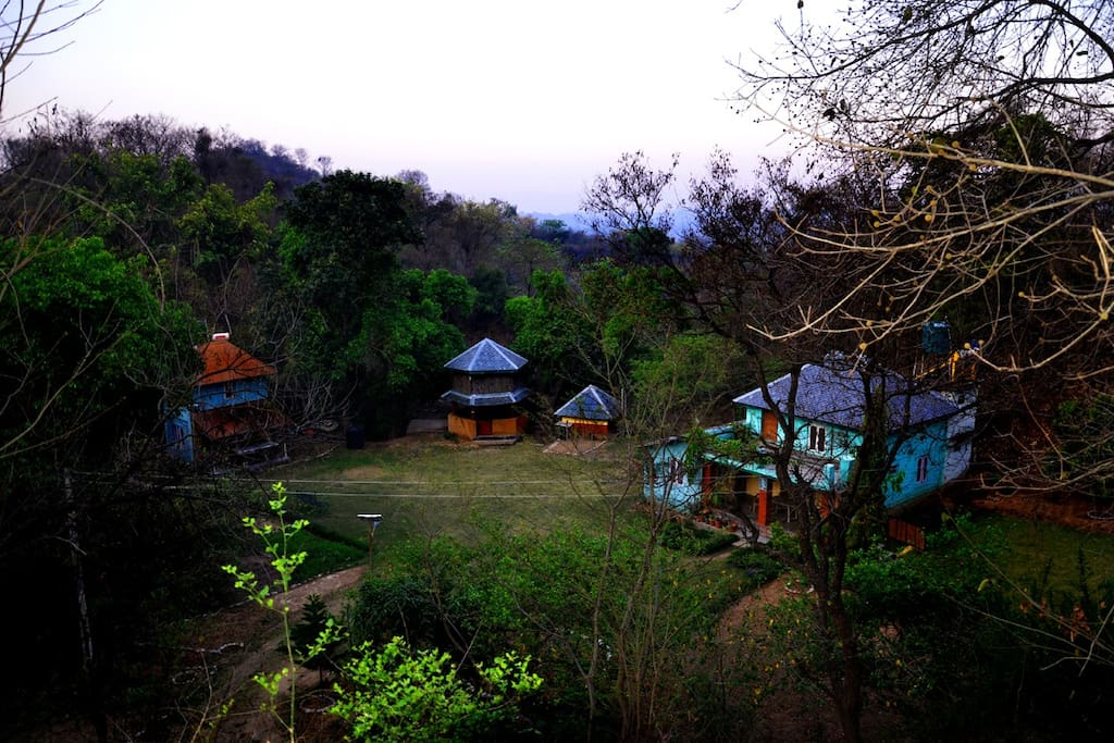 The exterior view of our eco-friendly retreat campsite
