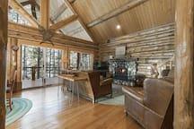 Flathead Lake Log Cabin Retreat for Two!