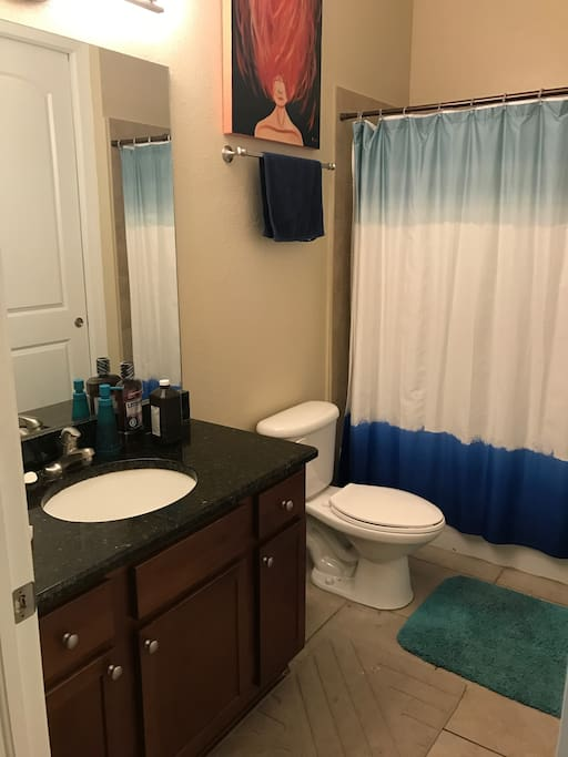 Guest bathroom (connected to your bedroom)