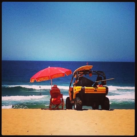 Beach patrol at Mona Vale during the swimming season - end Sept till end April