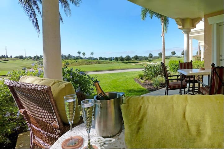 Condo Terrace With Golf View