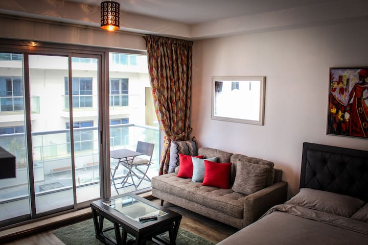 Beautifully furnished studio on exclusive beach