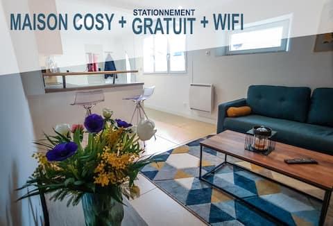 MAISON 3pers - WIFI fibre- Stationnement gratuit
