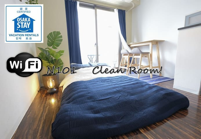 N101★Private Room★Near Namba★New Open★