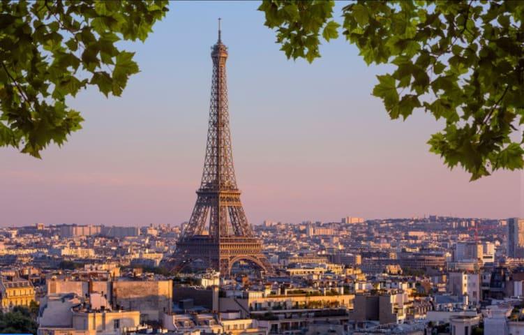 Charming flat, parking, Eiffel Tower