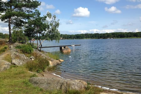 Stockholm archipelago with private beach.