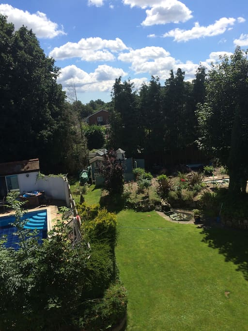 Gardens and swimming pool