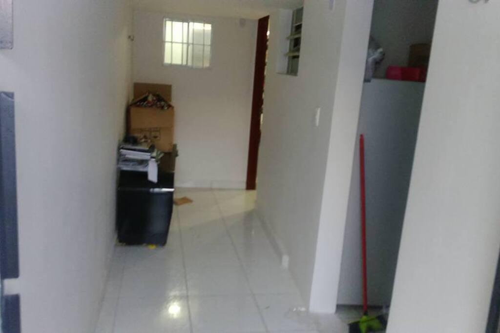 Hall de entrada para o studio
