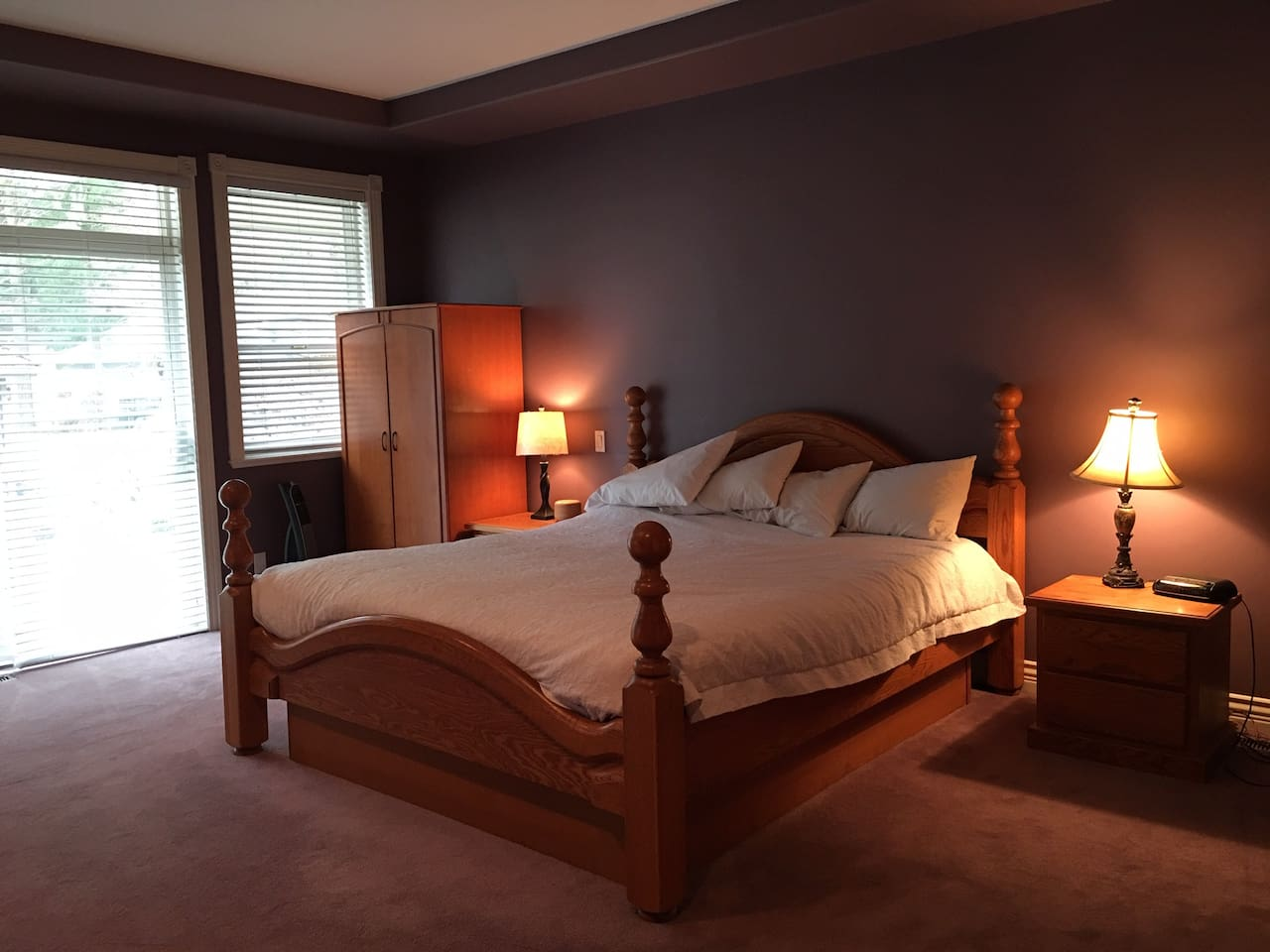 Master Suite (Approximatley 450 Sq), includes closet, TV, a full bathroom, Tub and Shower, and access to back yard.