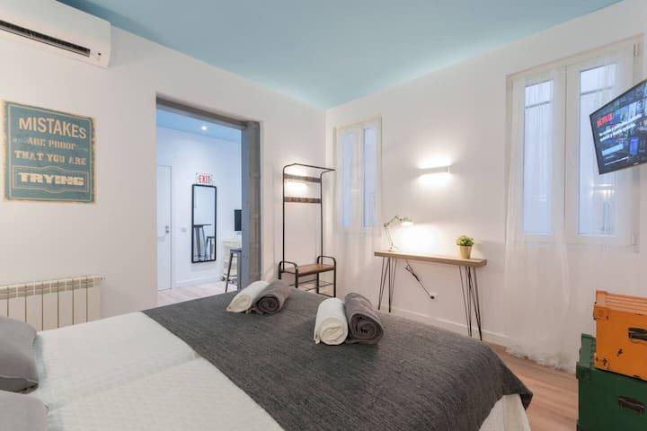 ······New Studio Atocha-Sol-Centre-WiFi-A/C······