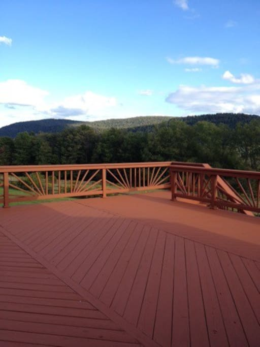 Deck off of the sun room.