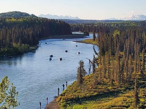 Alaska Homestead Retreat on Kasilof River 3BR/2BA