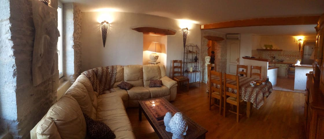appartement de charme 94 m² - Senas - Wohnung