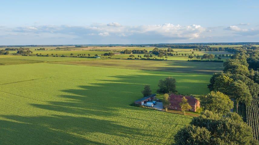 Woonboerderij middenin de Drentse weilanden