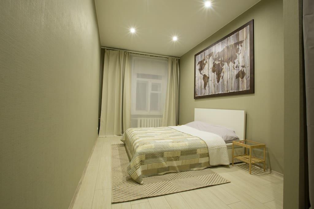 Спальня №1 с кроватью размера king size
